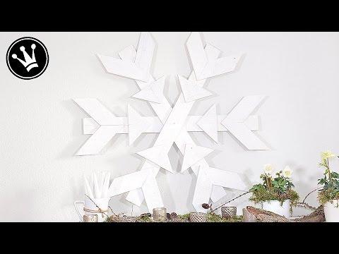 XXL Schneeflocke aus Paletten - Hol dir den Schnee nach Hause!