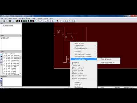 Sheetcam Tutorial 3: Editing contours