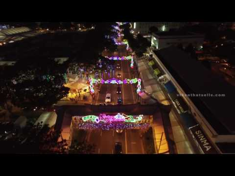 Night Drone Street Lightup