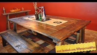 How To Build A Farmhouse Table - The Most Complete Video Online - Episode 7