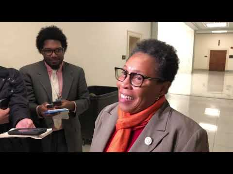 "Nancy Pelosi met privately Friday with her top potential rival for House speaker, Rep. Marcia Fudge, who said the two had a frank and open discussion, including ""the feeling in the caucus of people who are feeling left out and left behind."" (Nov. 16)"
