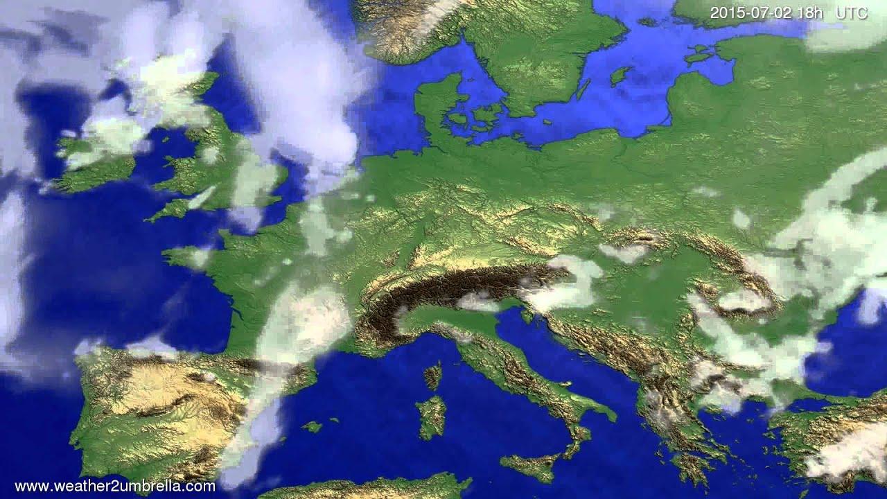 Cloud forecast Europe 2015-06-30