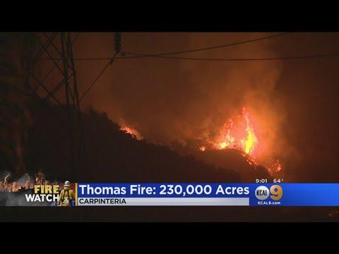Thomas Fire Intensifies In Carpinteria, More Evacuations Ordered