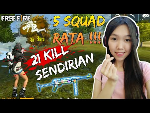 21 KILL SOLO VS SQUAD & PENGUMUMAN GIVEAWAY - FREE FIRE INDONESIA