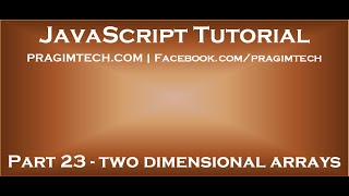 Creating two dimensional array in javascript