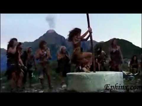 Hot Barbarian Woman PoleDancing Nude
