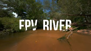 Flying over the river - 4k Cinematic FPV