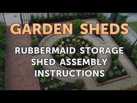 Rubbermaid Storage Shed Assembly Instructions