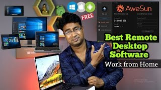 Best Free Remote Desktop Software for Windows, Android & iOS to Work from Home | AweSun