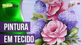 Pintando rosas e hortências