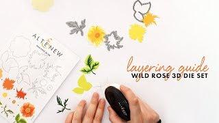 Altenew Layering Video - Wild Rose 3D Die Set