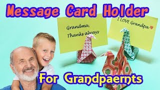 Grandparents Day Gift Ideas | How To Make Origami Cranes Message Card Holder | Only 1 Paper