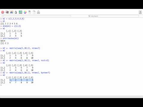 R programming tutorial – R Matrices – How to create matrix in R
