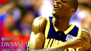 2003.03.29 Marquette vs Kentucky Dwyane Wade Highlights, 29 pts ,11 asts, 11 rebs, 4 blks
