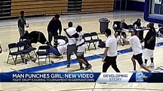 Man punches girl: New video gives new look at basketball brawl