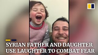 Syria War: Father And Daughter Living In Battle Zone Turn Sound Of Bombs Into A Game