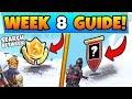Fortnite WEEK 8 CHALLENGES! - Mysterious Hatch Star, & Secret Banner (Battle Royale Season 7 Guide)
