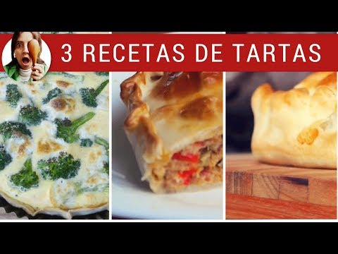 3 RECETAS DE TARTAS SALADAS - Para cualquier día!