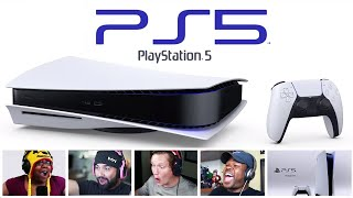 Reactors Reaction To Seeing The PlayStation 5 For The First Time | PS5 Hardware Reveal Reactions