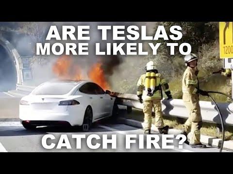 Opravdu u Tesly hrozí vyšší riziko požáru?