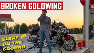 I Slept On The SIDEWALK After Getting FIRED *Goldwing Breakdown*