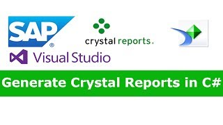C# Crystal Reports Tutorial For Beginners