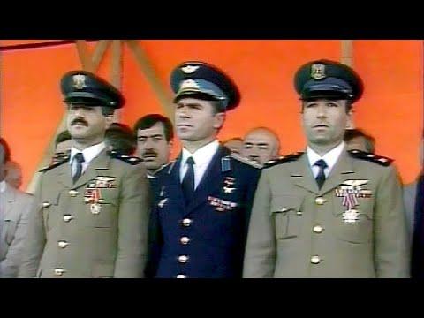 Сирия. Дамаск. Прибытие участники советско-сирийского космического экипажа 12.08.1987