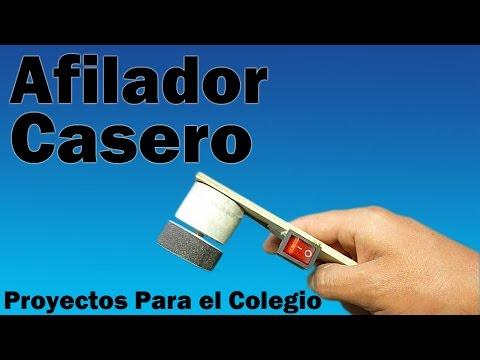 Cómo Hacer Afilador Eléctrico Casero (Fácil de hacer)