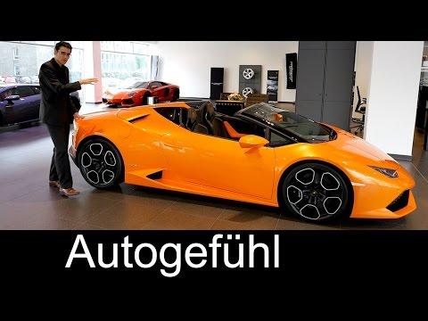 New Lamborghini Huracán Spyder LP 610-4 Premiere REVIEW & comparison Gallardo & Aventador Spyder