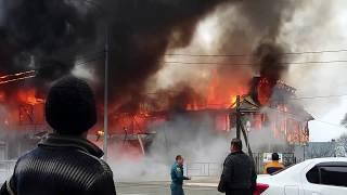 Пожар в Лоо 16.03.2017 г. в поселке Лоо.