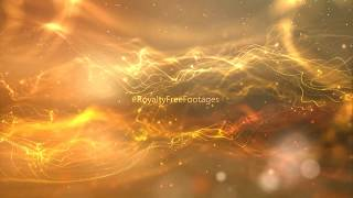 Golden bokeh - hd video background loop | Moving Particle Motion Background | Royalty Free Footages