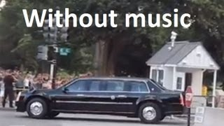 President Obama's motorcade leaving the White House - Washington DC (No music)