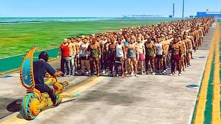 NEW DLC VEHICLES vs. 100 PEDESTRIANS! (GTA 5 DLC)