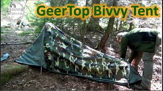 Geertop Bivvy Tent - Coole Mischung aus Zelt und Bivvysack + 977g Variante