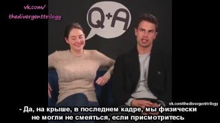 Shailene Woodley and Theo James for Buzzfeed русские субтитры
