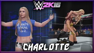 WWE 2K16 Charlotte CAW Formula + Entrance & Finisher