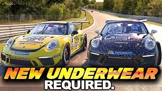 iRacing Porsche Cup: Need DUBBEL showers after this race! Graveyard at the Nordschleife