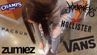 Teen Shopping Spree Vlog At The Mall   Hollister, Champs, Vans, Journeyz, Pac Sun, Zumiez