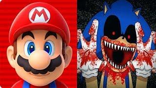Super Mario Run vs SONIC EXE Reborn BOSS FIGHT