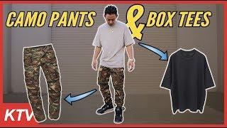 CARGO CAMO PANTS MENS STREETWEAR + BOX TEES REVIEW