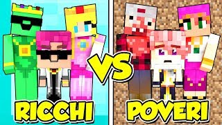 FAMIGLIA RICCA contro FAMIGLIA POVERA! - Scuola di Minecraft #9