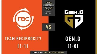 Team Reciprocity vs Gen.G | CWL Pro League 2019 | Division A | Week 1 | Day 3
