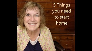 5 things you need to get started homeschooling