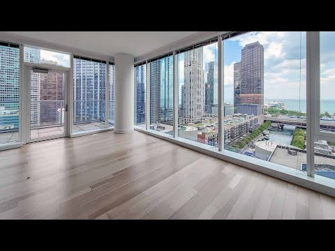 A one-bedroom with a private terrace at Streeterville's North Water apartments