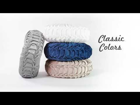Round Pleated Soft Velvet Decorative Pillow