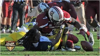 Jadeveon Clowney unleashes vicious hit vs. Michigan in 2013 Outback Bowl | ESPN Archives