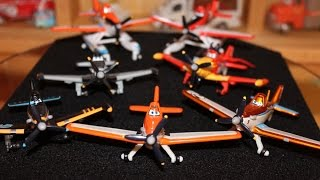 Mattel Disney Planes All Dusty Crophopper Variations (Supercharged, Midnight Flyers) Die-casts