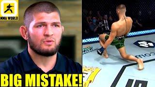 Khabib reveals one BIG MISTAKE that Conor McGregor did in his trilogy fight versus Dustin Poirier