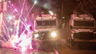 video: Belfast: Police fire water cannon at rioters on another night of violence in Northern Ireland