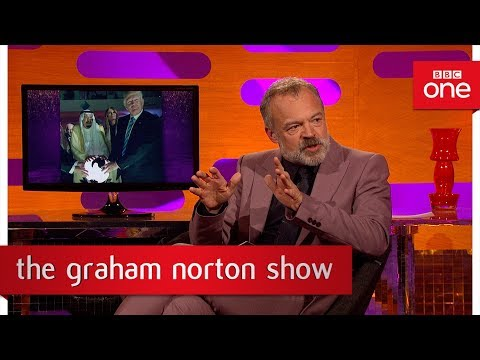 Graham looks at pictures from Donald Trump's trips - The Graham Norton Show 2017: Preview